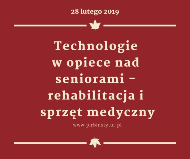 Konferencja: Technologie w opiece nad seniorami