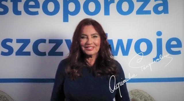 Agnieszka Perepeczko walczy z osteoporozą